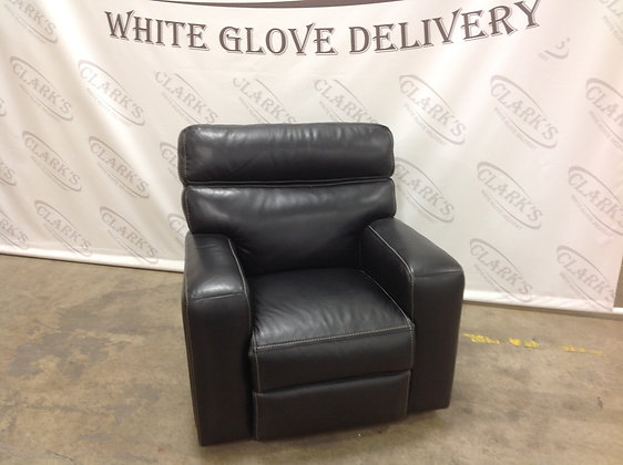 LUXURY POWDER GLIDE RECLINER UPHOLSTERED IN BERMUDA LEATHER BY HOOKER FURNITURE