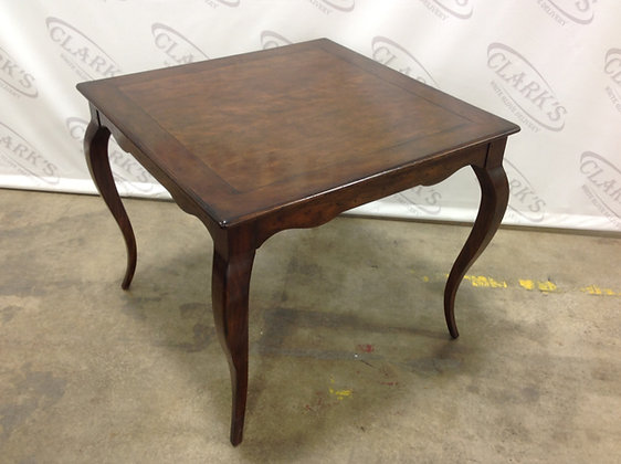 36 INCH FRENCH HARDWOOD GAME TABLE WITH CHERRY VENEER BY WOODBRIDGE  FURNITURE