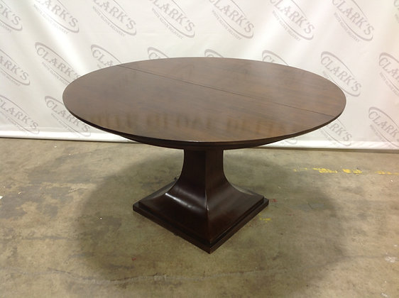 HAVEN BRUNETTE WALNUT ROUND DINING TABLE WITH 20 INCH EXTENSION BY BERNHARDT