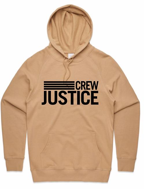 Tan Justice Crew Hoodie