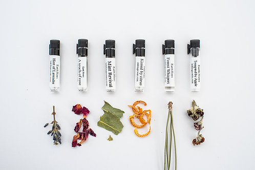 Sample pack of 6 Earth notes scents