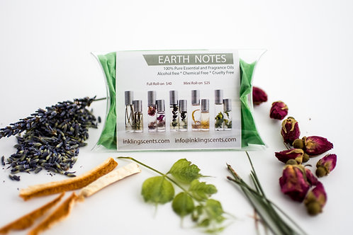 Sample pack of 5 Earth notes scents