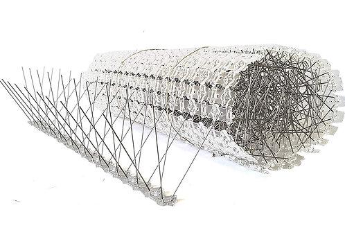 Taubenspikes aus Edelstahl auf UV-geschützter Polycarbonatleiste