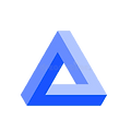 penrose-triangle-icon-blue-geometric-d-o