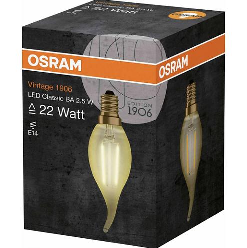 Osram Led Vintage Gold Flaman Kıvrık Mum Lamba Sarı Işık E14 Duy