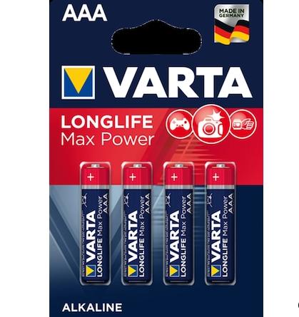 Varta Alkalin Longlife Max Power AAA 4lü İnce Pil