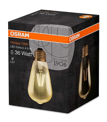 Osram Led Vintage Gold Edison 4W Sarı Işık E27