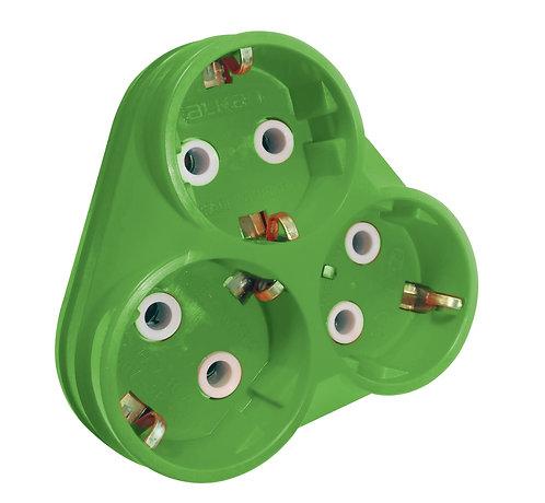 Alkan Üçlü Fiş Priz Golyad (Yeşil)