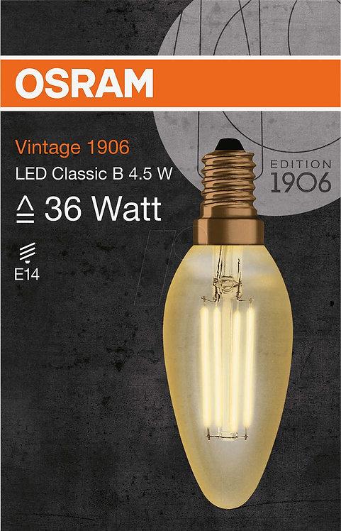 Osram Led Vintage Gold Mum Lamba 420 lm Sarı Işık E14 Duy