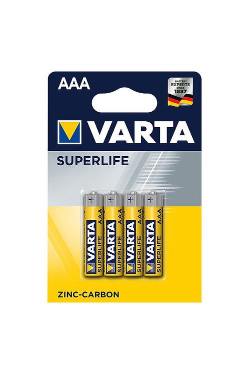 Varta Çinko Karbon Superlife AAA 4lü İnce Pil