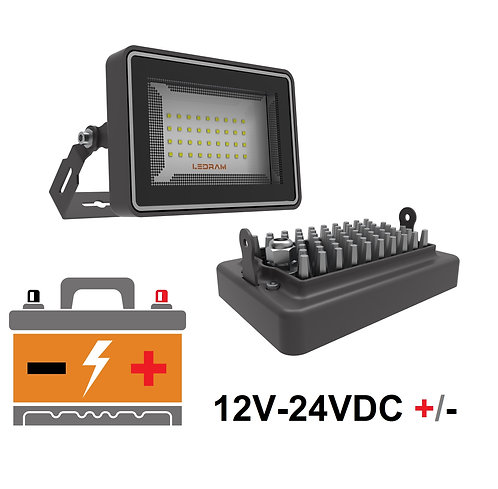 Ledram GM-12V-24V DC +/- Led Projektör