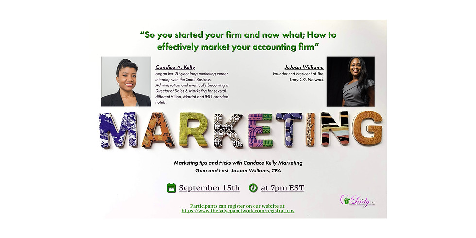 So you started your firm now what; How to effectively market your accounting firm