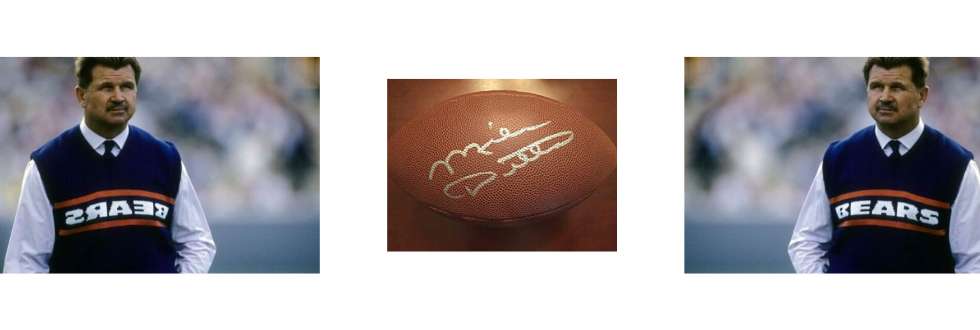 Ditka Signed Football