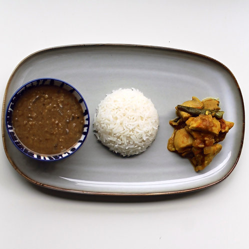 Dal Bhat and Nepali Chicken Curry