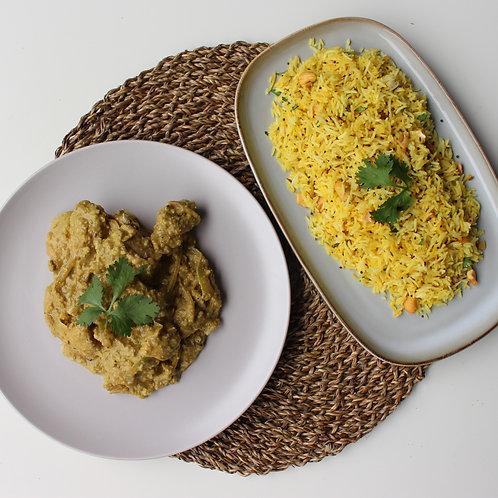 Chicken Pasanda and Lemon Rice
