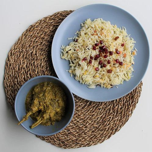 Rogan Josh with Kashmiri Rice