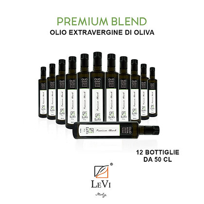 Blend Premium extra-virgin olive oil, 12 Bottiglie da 50cl - LeVi