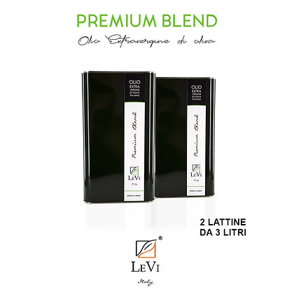 Blend Premium extra-virgin olive oil, 2 tin containers of 3 litres - LeVi