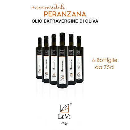 Olio Extravergine di Oliva Monovarietale Peranzana - 6 Bottiglie da 75cl - LeVi
