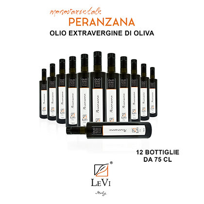 Extra-virgin olive oil of Peranzana monovarietal - 12 bottles of 75cl - LeVi