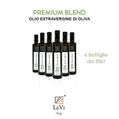 Olio Extravergine di Oliva Premium Blend, 6 Bottiglie da 50cl - LeVi