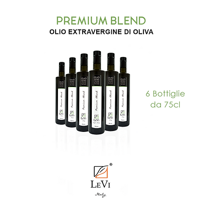 Olio Extravergine di Oliva Premium Blend, 6 Bottiglie da 75cl - LeVi