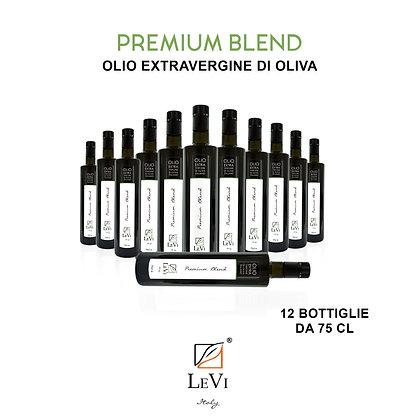Olio Extravergine di Oliva Premium Blend, 12 Bottiglie da 75cl - LeVi