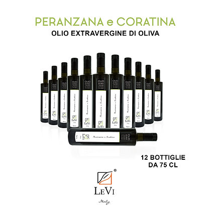Extra Virgin Peranzana and Coratina's Olive Oil - 12 bottles of 75 cl - LeVi