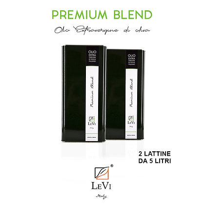 Blend Premium extra-virgin olive oil, 2 tin containers of 5 litres - LeVi