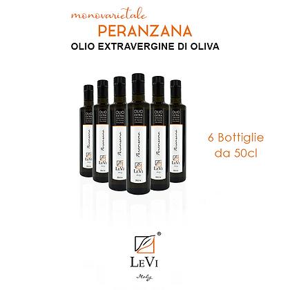 Olio Extravergine di Oliva Monovarietale Peranzana - 6 Bottiglie da 50cl - LeVi