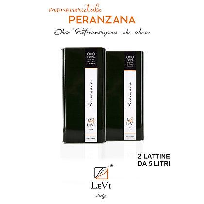 Olio Extravergine di Oliva Monovarietale Peranzana, 2 Latte da 5 Litri - LeVi