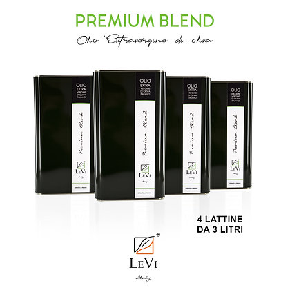 Blend Premium extra-virgin olive oil, 4 tin containers of 3 litres - LeVi