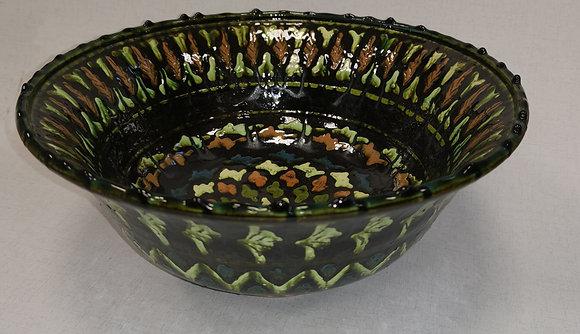 Large Green Uzbekistan Bowl by Abdullah Nazuraev