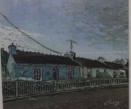 """Blue Pembrokeshire Cottage"" - Batik - Rhona Tooze"