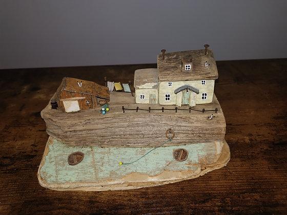 """""""Washday Cottage"""" Driftwood Sculpture by Trysorau Cymraeg"""