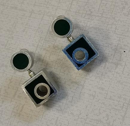 Panayotav Green/Black Post Earrings