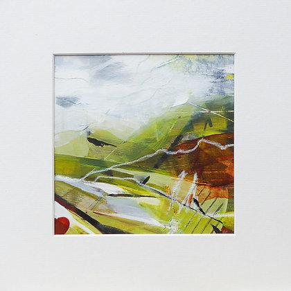 """Linear landscape 6"" by Bron Jones - Freedom Found Exhibition"