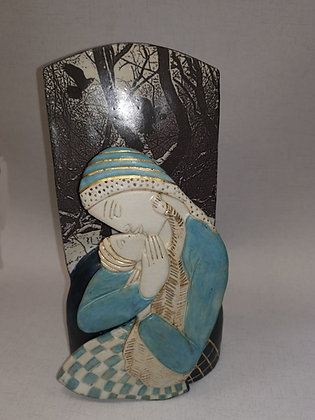 "Ceramic Sculpture ""Pagan Madonna - Val James"