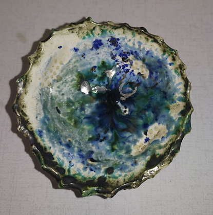 Petite Blue Coral Bowl - The Coral Range - Lesley Badger