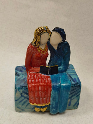 "Ceramic Sculpture ""A Good Tale III - Val James"