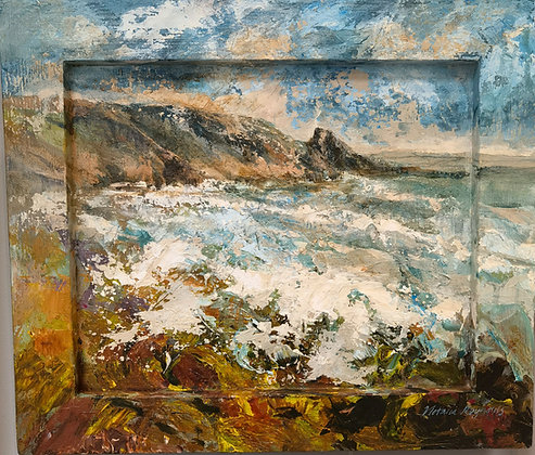 """""""Turquoise Waves - Newgale"""" by Victoria Reynolds"""