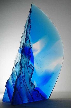 """Blue Horizon"" - Glass Sculpture - Crispian Heath"