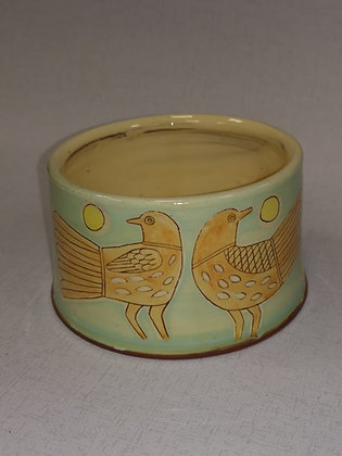 """Small  """"Adam and Eve Bowl II"""" by Margaret Brampton"""