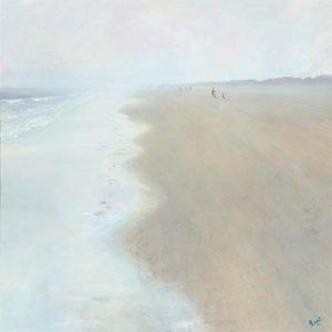 """""""Misty Morning Walks - Tenby"""" - Jantien Powell"""
