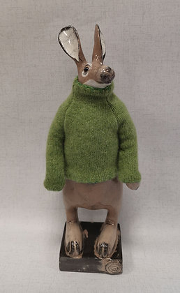 Hare in Cashmere Hand Knitted Jumper - Gwen Vaughan