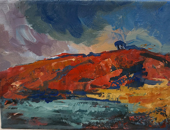 Red Cliff at Poppit Sands- Victoria Reynolds Miniatures
