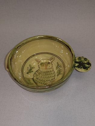 """Small  """"Owl Dessert/Soup Bowl V """" by Margaret Brampton"""