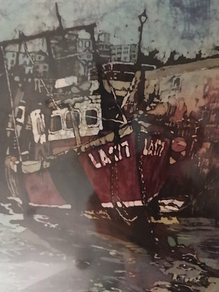 """Red Boat Tenby"" Print by Rhona Tooze"