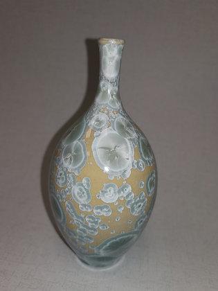 Small Crystal Glaze Mustard/Greys Vase - Simon Rich