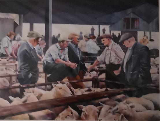 """Abergavenny Market"" - Jantien Powell - Print"